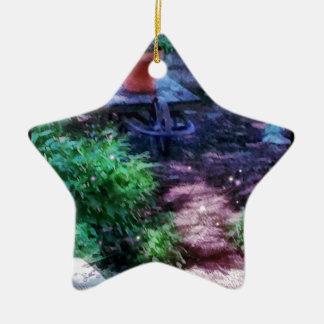 Secret Garden Ceramic Star Ornament