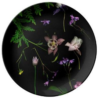 Secret Garden Decorative Porcelain Plate