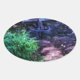 Secret Garden Oval Sticker