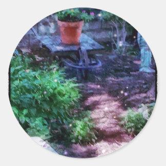 Secret Garden Round Sticker
