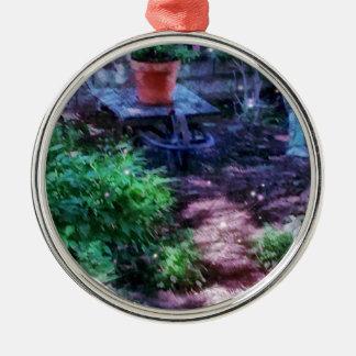 Secret Garden Silver-Colored Round Ornament
