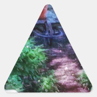 Secret Garden Triangle Sticker