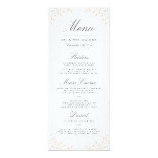 "Secret Garden Wedding Dinner Menu - Blush 4"" X 9.25"" Invitation Card"
