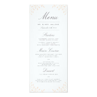 Secret Garden Wedding Dinner Menu - Blush Card