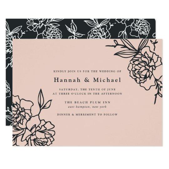 Secret Garden Wedding Invitation | Blush
