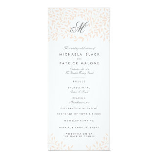 "Secret Garden Wedding Programs - Blush 4"" X 9.25"" Invitation Card"