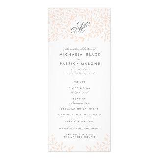 Secret Garden Wedding Programs - Blush Custom Invitation