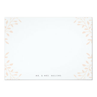 "Secret Garden Wedding Stationery - Blush 5"" X 7"" Invitation Card"