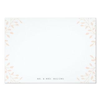 Secret Garden Wedding Stationery - Blush Card