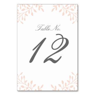Secret Garden Wedding Table Number - Blush