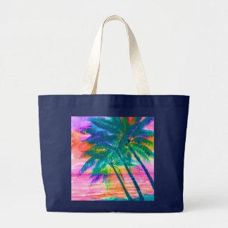secret-island palms  jumbo tote