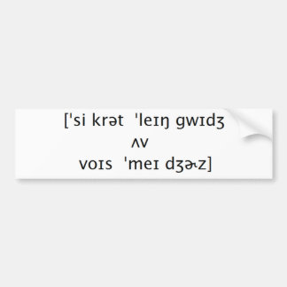 Secret Language Bumper Sticker