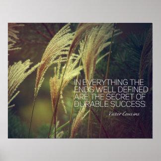 Secret Of Durable Success Poster
