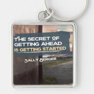 Secret Of Getting Ahead Keychain