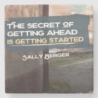 Secret Of Getting Ahead Stone Coaster