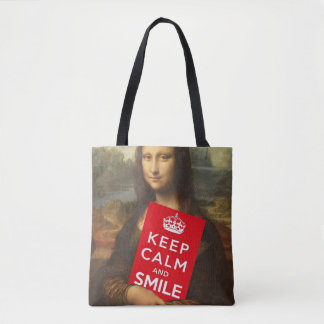 Secret Of Mona Lisa's Smile Tote Bag