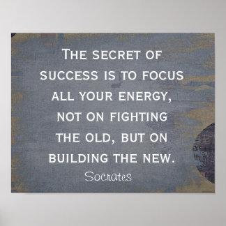 Secret of Success - Socrates quote - art print