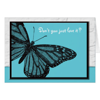 Secret Pal blue butterfly Greeting Card