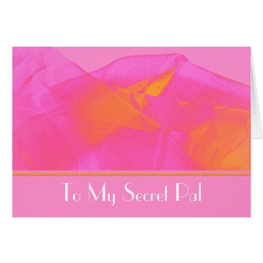 Secret pal greeting card