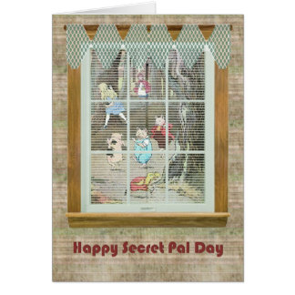 Secret Pal Day, Vintage Fairy Tale Characters Greeting Card