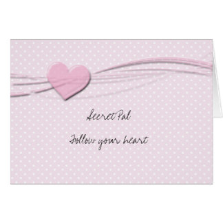 Secret pal inspiraion greeting card