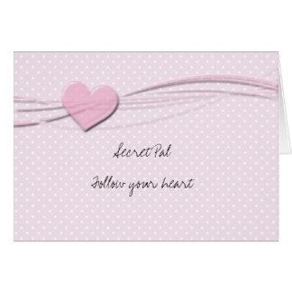 Secret pal inspiraion greeting card