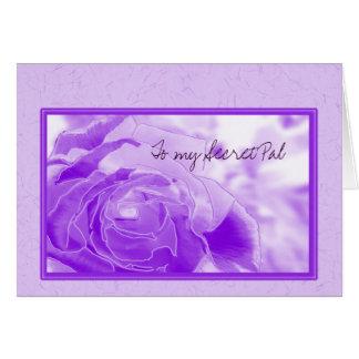 Secret Pal lavender rose Greeting Card