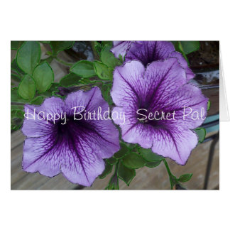 Secret Pal Petunia birthday Greeting Cards