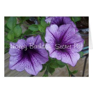 Secret Pal Petunia birthday Greeting Card