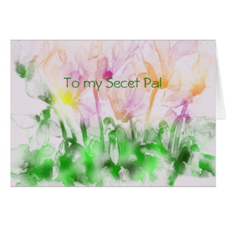 Secret Pal Spring Greeting Card