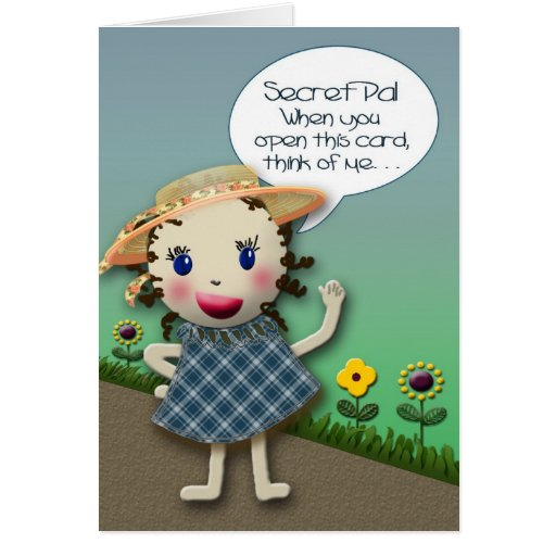 Secret Pal - THINKING OF YOU Greeting Cards