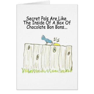 Secret Pals Are Like A Box Of Bon Bons Greeting Greeting Card