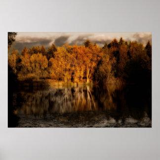 Secret pond at dusk JTS_1124 Poster
