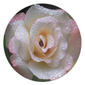Secret Rose Melamine Plate