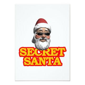 "Secret Santa 5"" X 7"" Invitation Card"