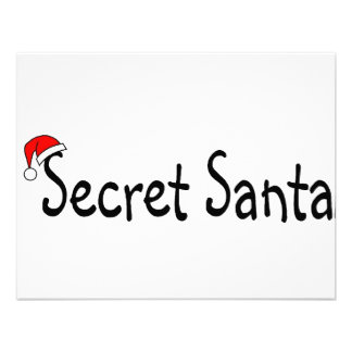 Secret Santa Personalized Invitations