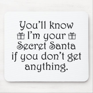 Secret Santa Mouse Pad