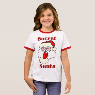 Secret Santa on Christmas Ringer T-Shirt
