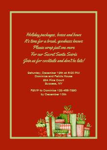 Secret Santa Party Invitation