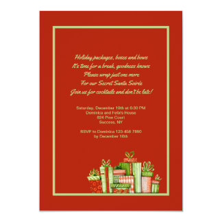 Secret Santa Party Invitation