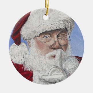 Secret Santa  Tree Ceramic Ornament