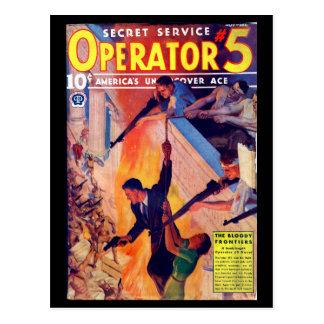 Secret Service Operator 5 - Nov-Dec 1937a_Pulp Art Postcard