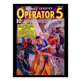 Secret Service Operator 5 - Nov-Dec 1938a_Pulp Art Poster