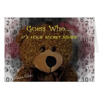 Secret Sister card- any occasion Greeting Card
