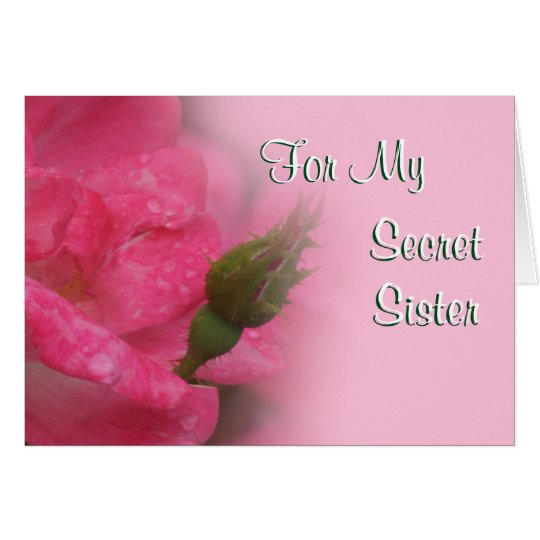 Secret Sister Rose Card-customize any occasion Card
