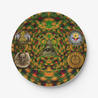 Secret Society Paper Plate