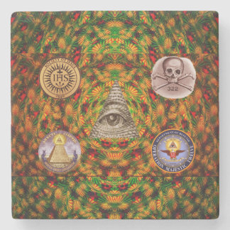 Secret Society Stone Coaster