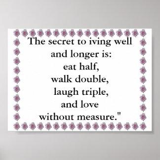 Secret To Living Poster