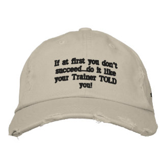 Secret to success embroidered hat