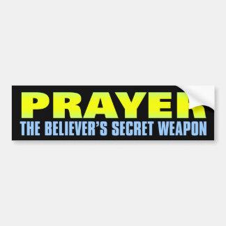 Secret Weapon: Prayer Bumper Sticker